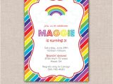 Rainbow themed Baby Shower Invitations Items Similar to Rainbow Birthday Stripes theme Party