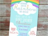 Rainbow themed Baby Shower Invitations somewhere Over the Rainbow Baby Shower Invitation by