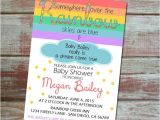 Rainbow themed Baby Shower Invitations somewhere Over the Rainbow Baby Shower Invitation
