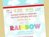 Rainbow themed Birthday Party Invitations 5 Perfect Rainbow Party Invitation Wording Braesd Com