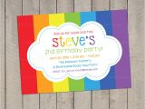 Rainbow themed Birthday Party Invitations 8 Fantastic Rainbow theme Party Invitation Braesd Com