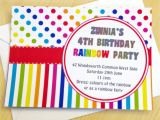 Rainbow themed Birthday Party Invitations Celebrate Summer with A Children 39 S Rainbow themed Party