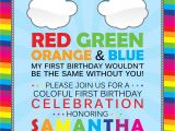 Rainbow themed Birthday Party Invitations Rainbow Birthday Invitation Cimvitation