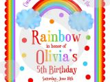 Rainbow themed Birthday Party Invitations Rainbow themed Birthday Invitations Best Party Ideas