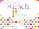 Rainbow themed Birthday Party Invitations Taste the Rainbow Invitation