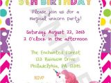 Rainbow Unicorn Birthday Invitations Free 9 Best Images Of Free Printable Unicorn Invitations