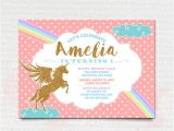 Rainbow Unicorn Birthday Invitations Free Printable Pink Gold Unicorn Invitation Rainbow Unicorn