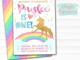 Rainbow Unicorn Birthday Invitations Free Printable Rainbow Unicorn Birthday Invitation Watercolor