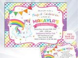Rainbow Unicorn Birthday Invitations Free Rainbow Unicorn Invitation Unicorn Birthday Invitation