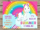 Rainbow Unicorn Birthday Invitations Free Rainbow Unicorn Invitations