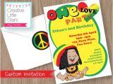 Rasta Party Invitations Rasta One Love Invitation Editable Instant by