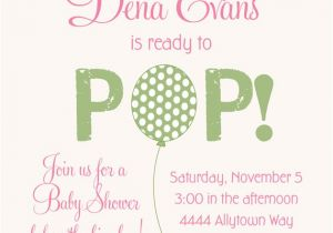 Ready to Pop Baby Shower Invitations Free Ready to Pop Balloon Baby Shower Invitations by Party Pop