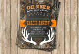 Realtree Camo Baby Shower Invitations Camo Baby Shower Boy Deer Hunting Printable Invitation 5×7
