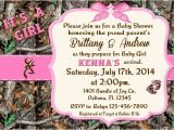 Realtree Camo Baby Shower Invitations Pink Camo Baby Shower Invitations
