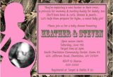 Realtree Camo Baby Shower Invitations Realtree Camo & Pink Girl Baby Shower Invitations Party