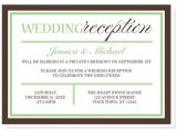 Reception Invitations after Private Wedding Wedding Invitation Elegant Wedding Reception Invitation