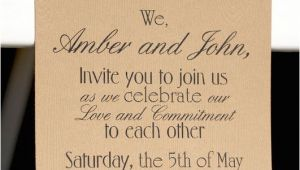 Reception to Follow On Wedding Invitation Invite Wording Just Add Cake and Tea Reception to