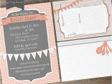 Recipe Bridal Shower Invitations Wording Bridal Shower Printable Invites and Recipe Cards On Behance