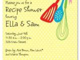 Recipe Bridal Shower Invitations Wording Cooking tools Bridal Shower Invitations