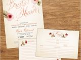 Recipe Bridal Shower Invitations Wording Items Similar to Watercolor Flower Bridal Shower