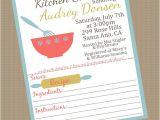 Recipe Bridal Shower Invitations Wording Kitchen themed Bridal Shower Invitations with Recipe Card