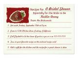 Recipe Bridal Shower Invitations Wording Recipe Bridal Shower Invitations