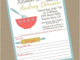 Recipe themed Bridal Shower Invitation Wording Bridal Shower Invitations Bridal Shower Invitation