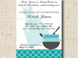 Recipe themed Bridal Shower Invitation Wording Printable Bridal Shower Invitation and Recipe Card Kitchen