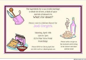 Recipe themed Bridal Shower Invitations Kitchen Bridal Shower Invitation Cooking themed Retro