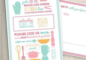 Recipe themed Bridal Shower Invitations Kitchen Cooking theme Bridal Wedding Shower Invitation