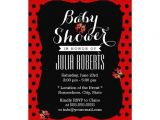 Red and Black Baby Shower Invitations Cute Black & Red Dots Ladybugs Baby Shower Custom Invitation