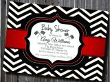 Red and Black Baby Shower Invitations Diy Printable Chevron Black White Red Baby Shower