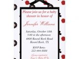 "Red and Black Baby Shower Invitations Red and Black Baby Shower Invitation 5"" X 7"" Invitation"