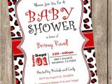 Red and Black Baby Shower Invitations Red and Black Leopard Baby Shower Invitation Leopard Red