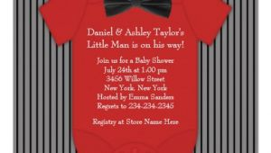 Red and Black Baby Shower Invitations Red and Black Pinstripe Baby Shower 5 25×5 25 Square Paper
