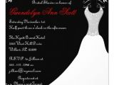 Red and Black Bridal Shower Invitations Black and Red Wedding Gown Bridal Shower Invites