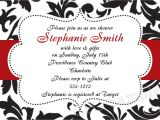 Red and Black Bridal Shower Invitations Free Bridal Shower Invitations Red Black White