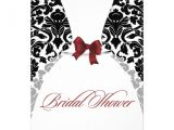 Red and Black Bridal Shower Invitations Red and Black Damask Bridal Shower Wedding Dress 13 Cm X