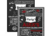 Red and Black Graduation Invitations Black and Red Graduation Invitations Burlap Grad Party