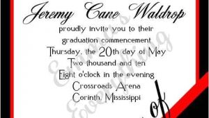 Red and Black Graduation Invitations Corner Year Graduation Invitation Red Black Eric