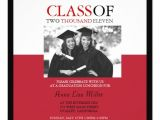 Red and Black Graduation Invitations Photo Graduation Invitations In Red and Black 5 25 Quot Square