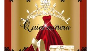 Red and Black Quinceanera Invitations Quinceanera 15th Red Black Gold Diamond Tiara Card Zazzle