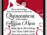 Red and Black Quinceanera Invitations Red and Black Princess butterflies Quinceanera Invitations
