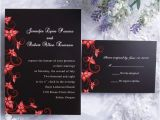Red and Black Wedding Invitations Cheap Cheap Black and Red Wedding Invitations Image 688333 On