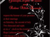 Red and Black Wedding Invitations Cheap Classic Red and Black Floral Wedding Invitations Ewi152 as