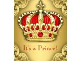 Red and Gold Baby Shower Invitations Fancy Prince Baby Shower Red and Gold 4 5×6 25 Paper