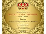 Red and Gold Baby Shower Invitations Fancy Prince Baby Shower Red and Gold Invitation