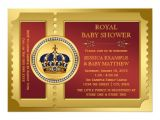 Red and Gold Baby Shower Invitations Red and Gold Boys Royal Baby Shower 5×7 Paper Invitation