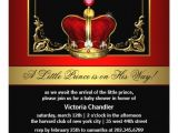 Red and Gold Baby Shower Invitations Red and Gold Crown Prince Baby Shower Invitation