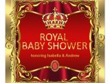 Red and Gold Baby Shower Invitations Royal Prince or Princess Baby Shower Red Gold Card